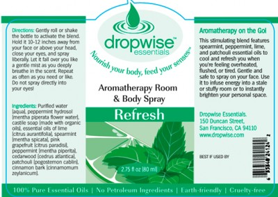 Aromatherapy Mister Label