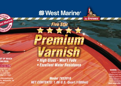 West Marine Paint Can Labels