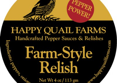 Happy Quail Farms Relish and Hot Sauces